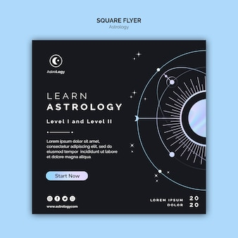Apprendre le dépliant carré de l'astrologie