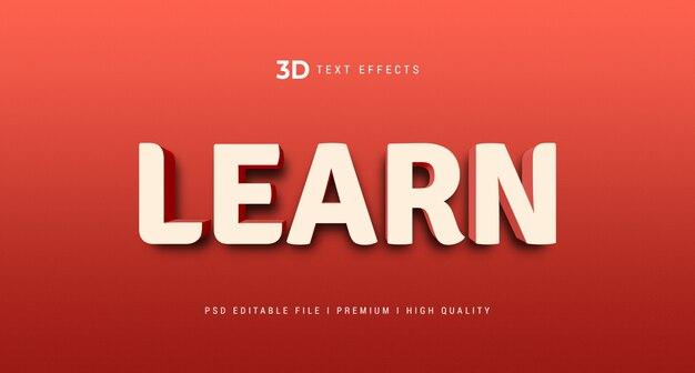 Apprendre la maquette d'effet de style de texte 3d