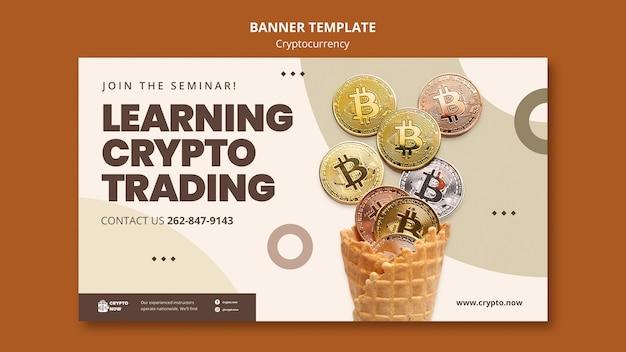 Apprendre le modèle de bannière de trading crypto