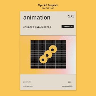 Apprendre Le Modèle De Flyer D'animation Psd gratuit