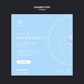 Apprendre le modèle de flyer carré astrologie