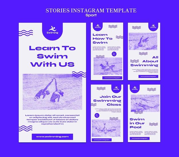 Apprenez à nager dans les histoires instagram