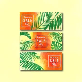 Aquarelle-été-vente-bannière