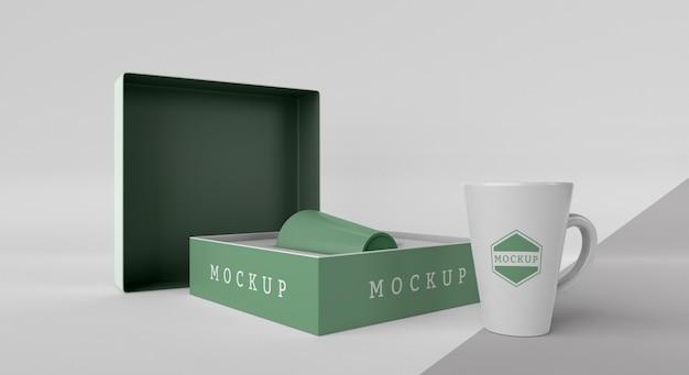 Arrangement de boîte de tasse de maquette