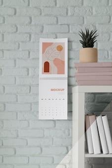 Arrangement de calendrier de maquette créatif