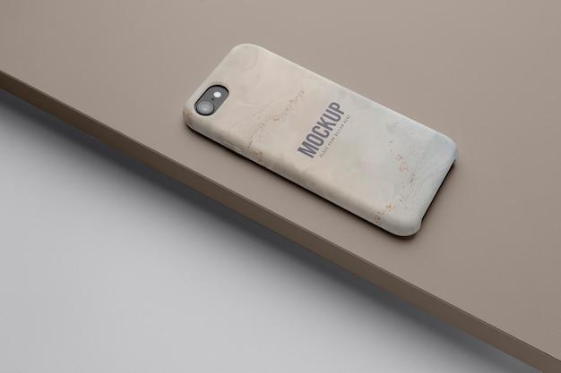 Arrangement de cas de téléphone portable de maquette