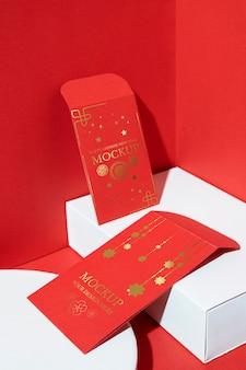 Arrangement des éléments du nouvel an chinois