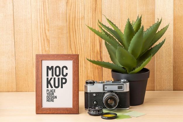 Arrangement de maquette d'atelier de photographe