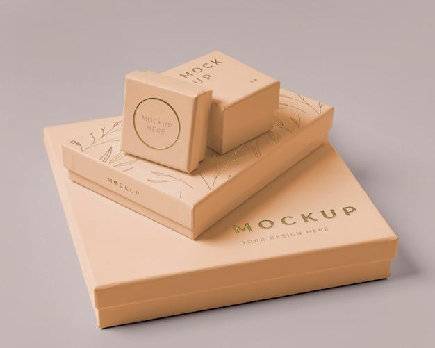 Arrangement de maquette d'emballage de qualité supérieure