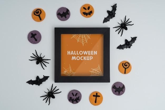 Arrangement de maquette de frontière d'halloween