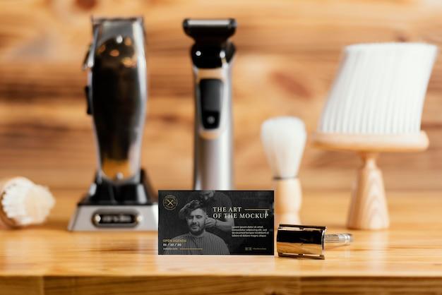 Arrangement de maquette de salon de coiffure