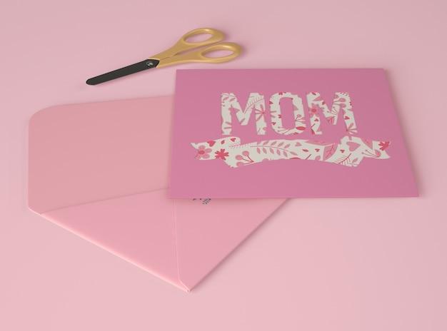 Arrangement pour la fête des mères avec créateur de scène de carte