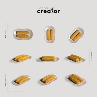 Arrangement de thanksgiving avec du maïs