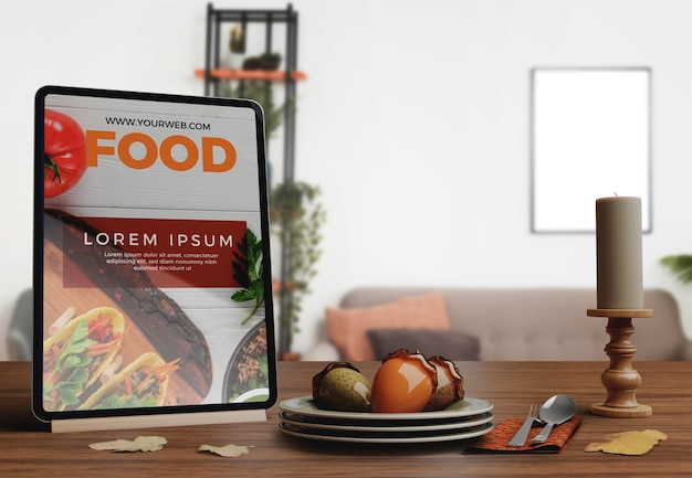 Arrangements décoratifs pour les arrangements de restaurant pour le jour de thanksgiving