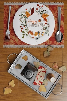 Arrangements de table de thanksgiving