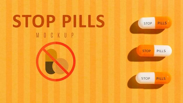 Arrêtez la dépendance aux pilules avec une maquette