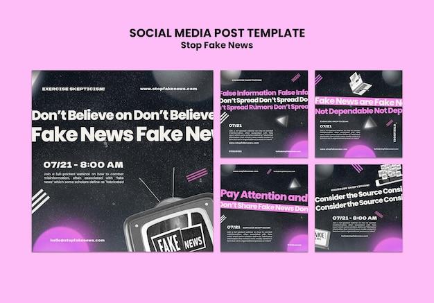 Arrêtez les fausses nouvelles sur les réseaux sociaux