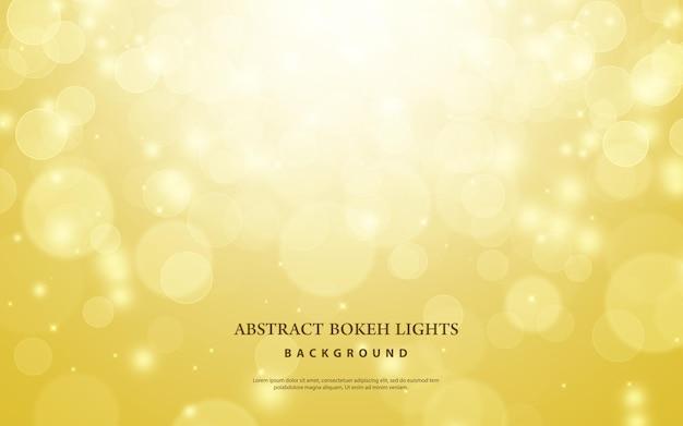 Arrière-plan flou bokeh or. concept abstrait de lumière de noël et du nouvel an.
