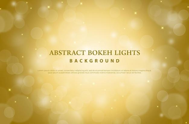 Arrière-plan flou bokeh or. concept abstrait de noël et du nouvel an.