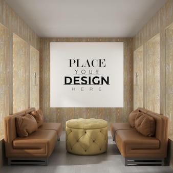 Art mural ou cadre photo dans la maquette du salon