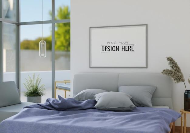 Art mural toile ou cadre photo intérieur maquette dans une chambre