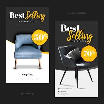 Article instagram story pour la vente de meubles