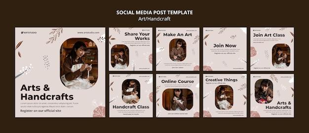 Articles instagram d'art et d'artisanat