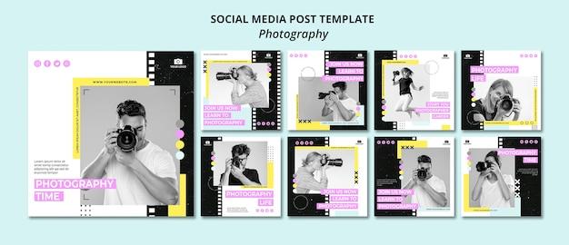 Articles de médias sociaux sur la photographie créative