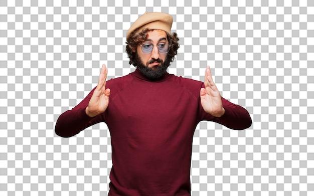 Artiste français avec un béret pointant