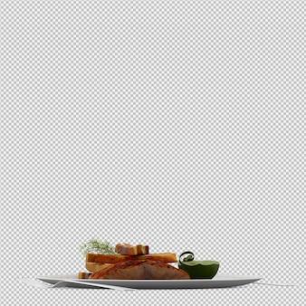Assiette 3d rendu 3d