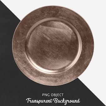 Assiette de service en bronze transparent