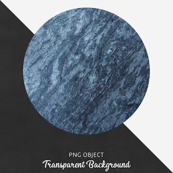 Assiette de service en marbre bleu sur fond transparent