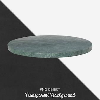 Assiette de service en marbre vert sur transparent