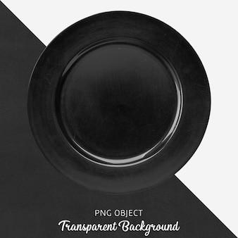 Assiette de service noire transparente