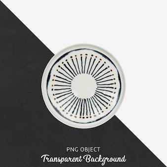 Assiette de service ronde à motifs sur fond transparent