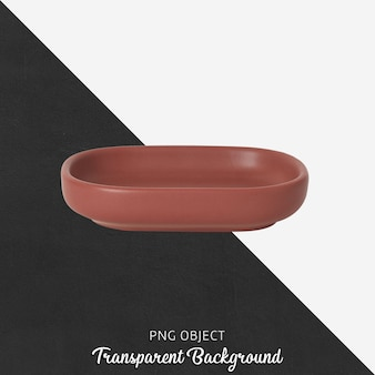 Assiette de service rouge sur transparent