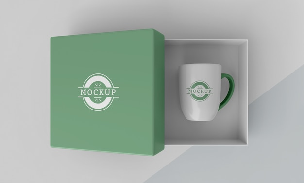 Assortiment de boîte à mugs maquette