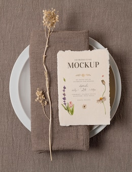 Assortiment de cartes de maquette de mariage