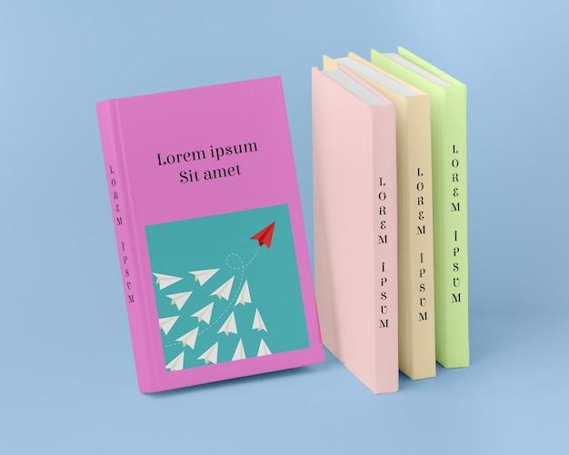 Assortiment de livres de concept d'entreprise