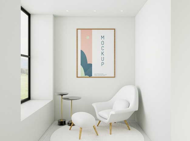 Assortiment de maison minimaliste vue de face avec maquette de cadre