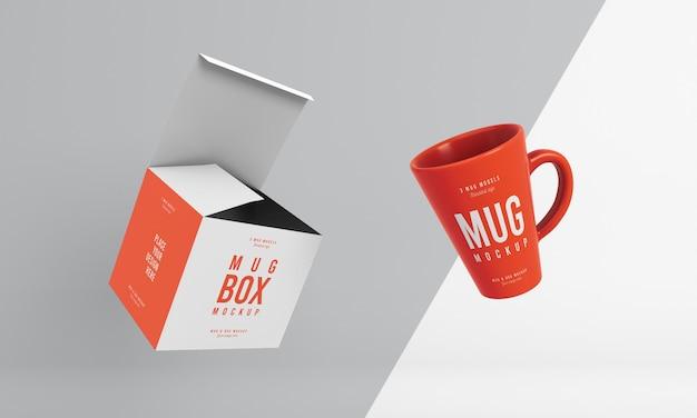 Assortiment de maquettes de boîtes à tasses