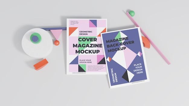 Assortiment de maquettes de magazines minimalistes