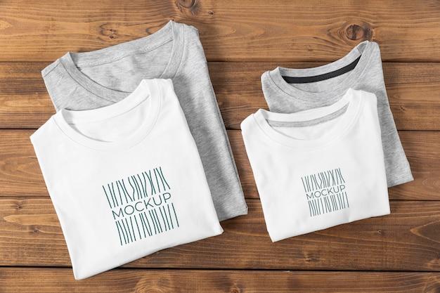 Assortiment de maquettes de t-shirts pour la fête des pères