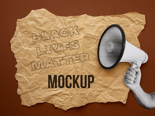 Assortiment de maquettes de vies noires qui comptent