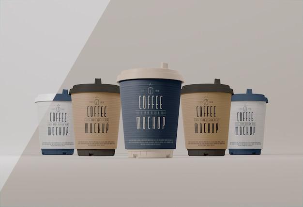 Assortiment de marque de tasses à café