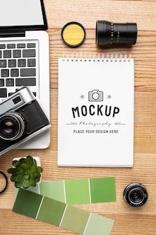 Atelier photographe avec carnet de maquette