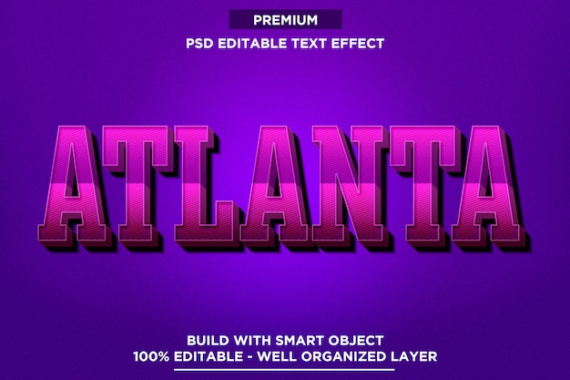 Atlanta - modèles d'effets de texte de style police