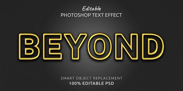 Au-delà de l'effet de style de texte