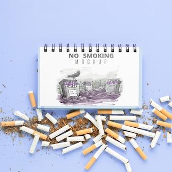 Aucune maquette de fumer à plat