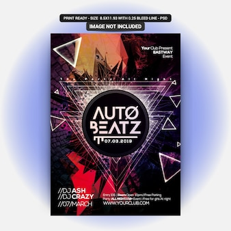 Auto beatz party flyer